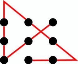 nine-dots-solved